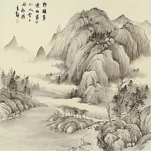 云山詩意圖|楊青辭國畫選