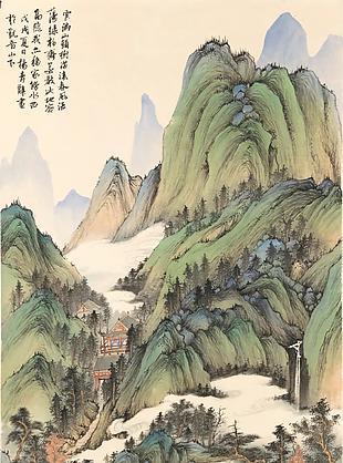松湖小景圖|楊青辭國畫選