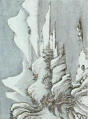 雪山話舊圖|楊青辭國畫選