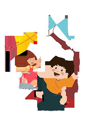 放風箏的兒童