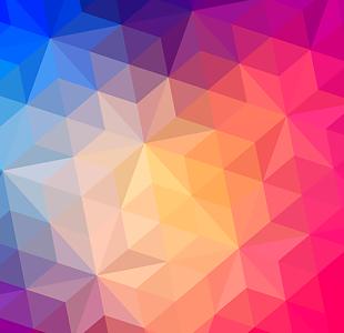 彩色晶格底紋幾何背景