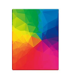 彩虹晶格底紋幾何全屏海報背景