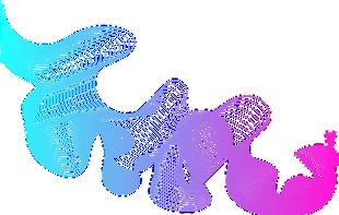 手繪數碼光效彩色線條插畫裝飾