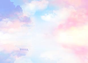 唯美彩色天空云朵背景