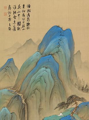 探勝訪友圖|楊青辭國畫