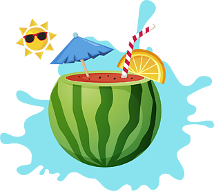 炎熱夏天西瓜飲料解渴