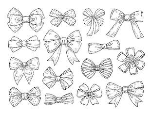 蝴蝶結線稿