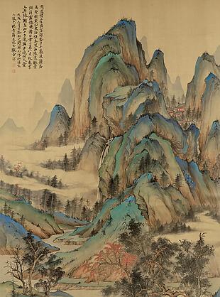 喬柯競秀圖|楊青辭國畫