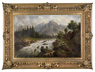 油畫風景山水