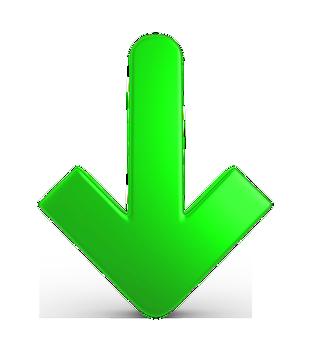 綠色向下箭頭