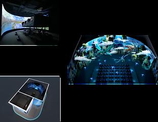 廣州華夢科技-環幕軌道動感沉浸空間效果