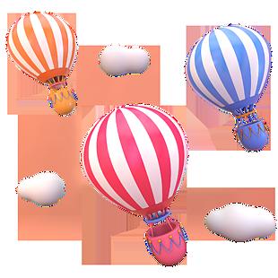 彩色熱氣球